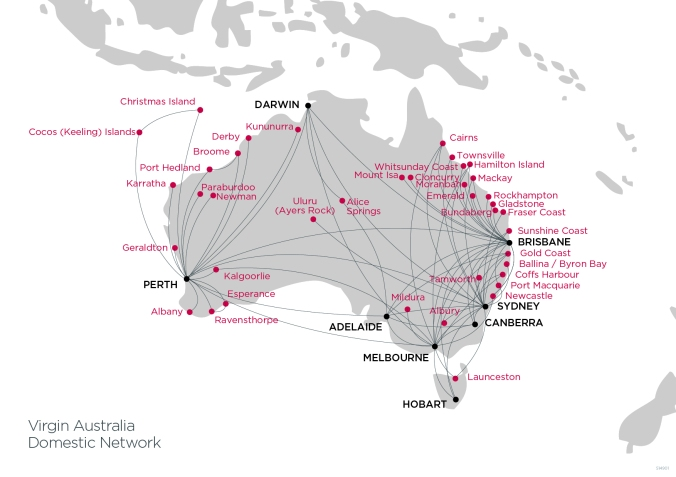 Virgin Australia Domestic Route Network - (Virgin Australia)