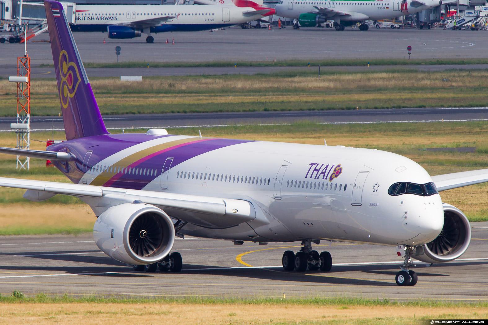 Thai Airways A350 (image: Clément Alloing)