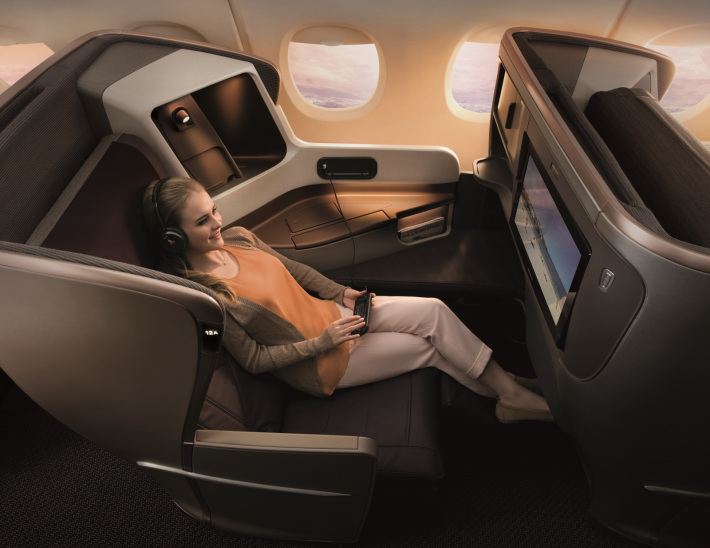 Singapore Airlines A350 Business Class (Image: thedesignair.net)