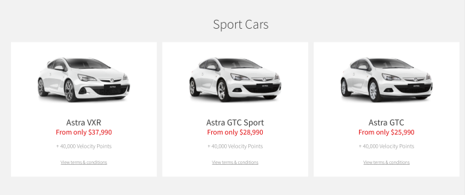 Sport Car Category