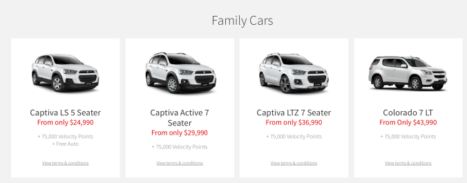 Family Car Category