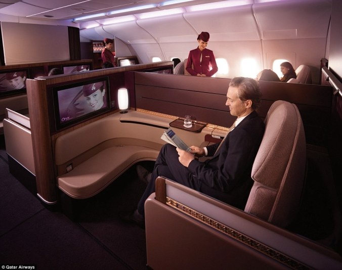 Qatar Airways A380 First Class image - Qatar Airways
