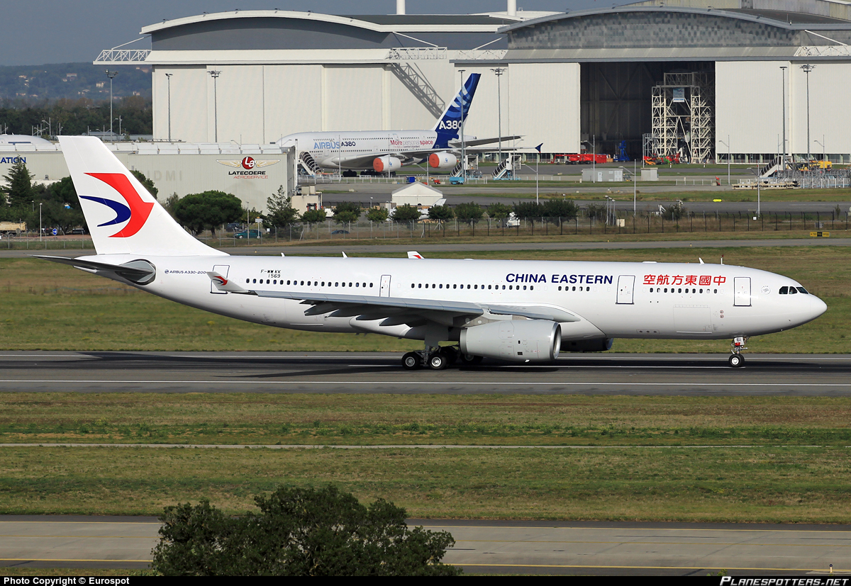 China Eastern A330 (image - Eurosport, planespotters.net)