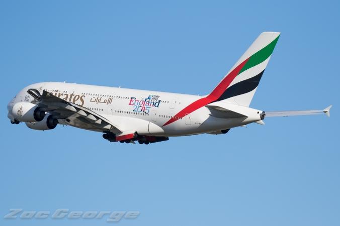Emirates A380 © Zac George