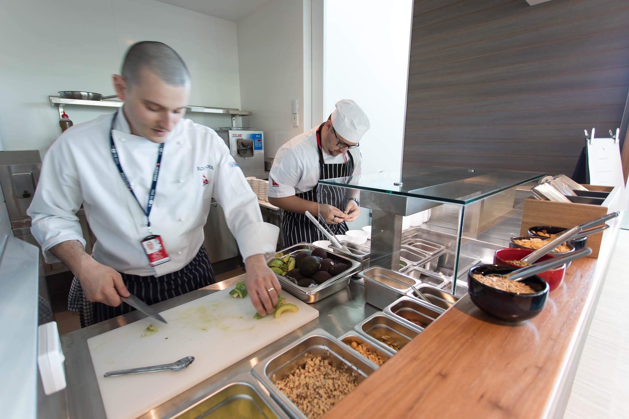 Qantas Brisbane International Lounge Level 2 Breakfast Hatch