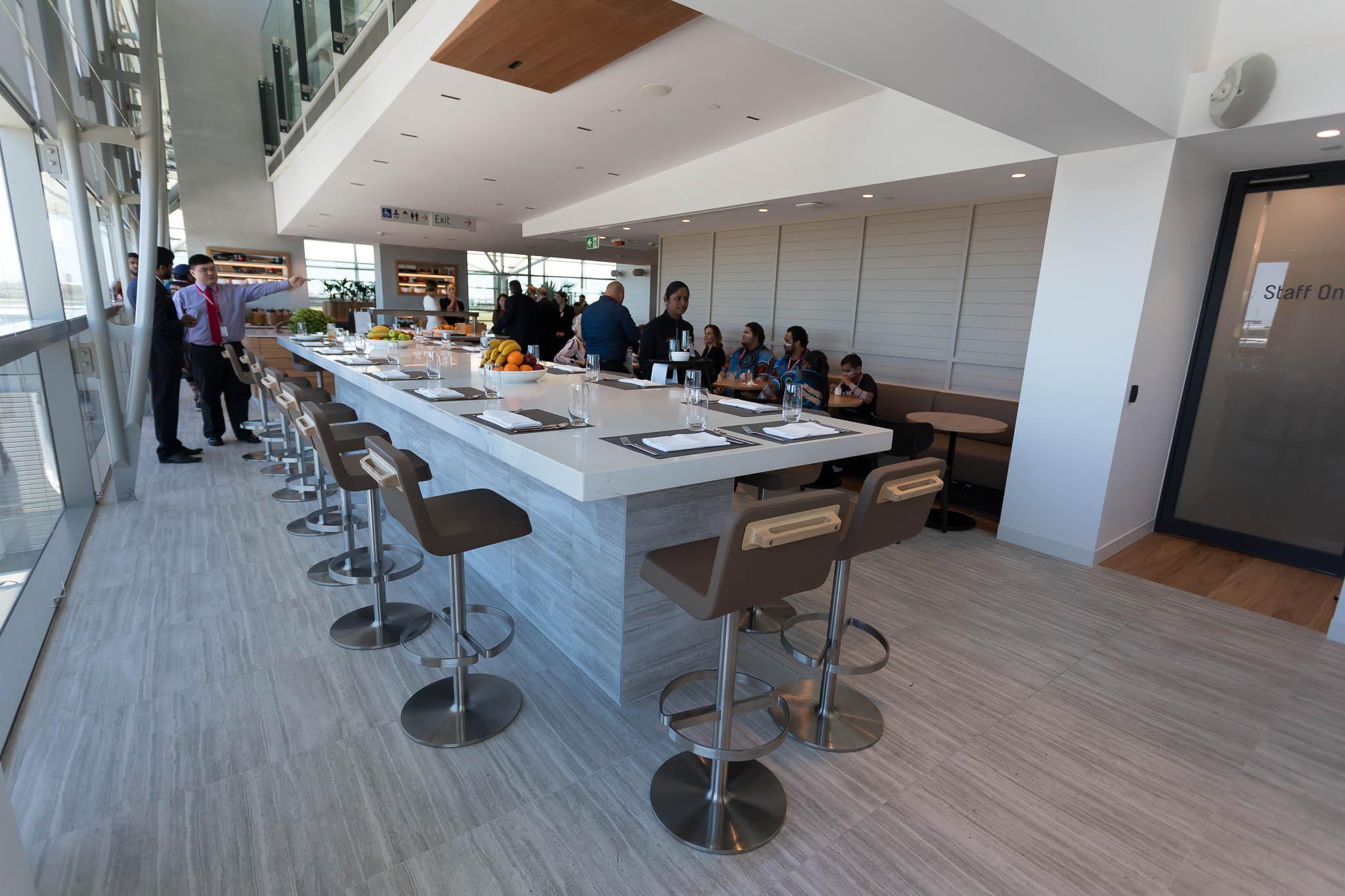 Qantas Brisbane International Lounge Dining Area