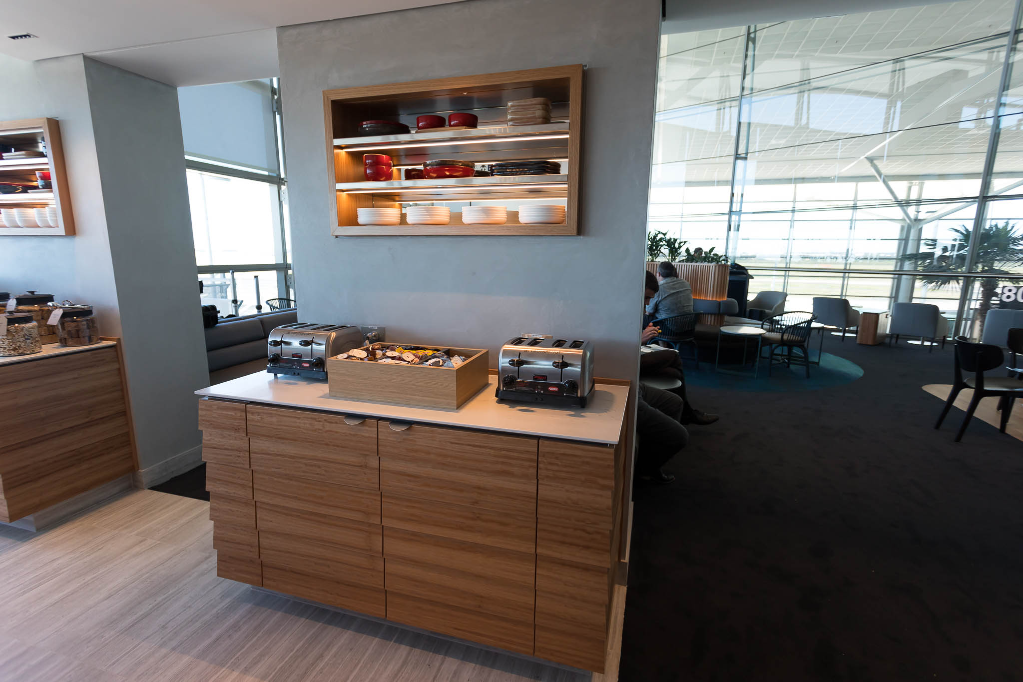 Qantas Brisbane International Lounge Food Area
