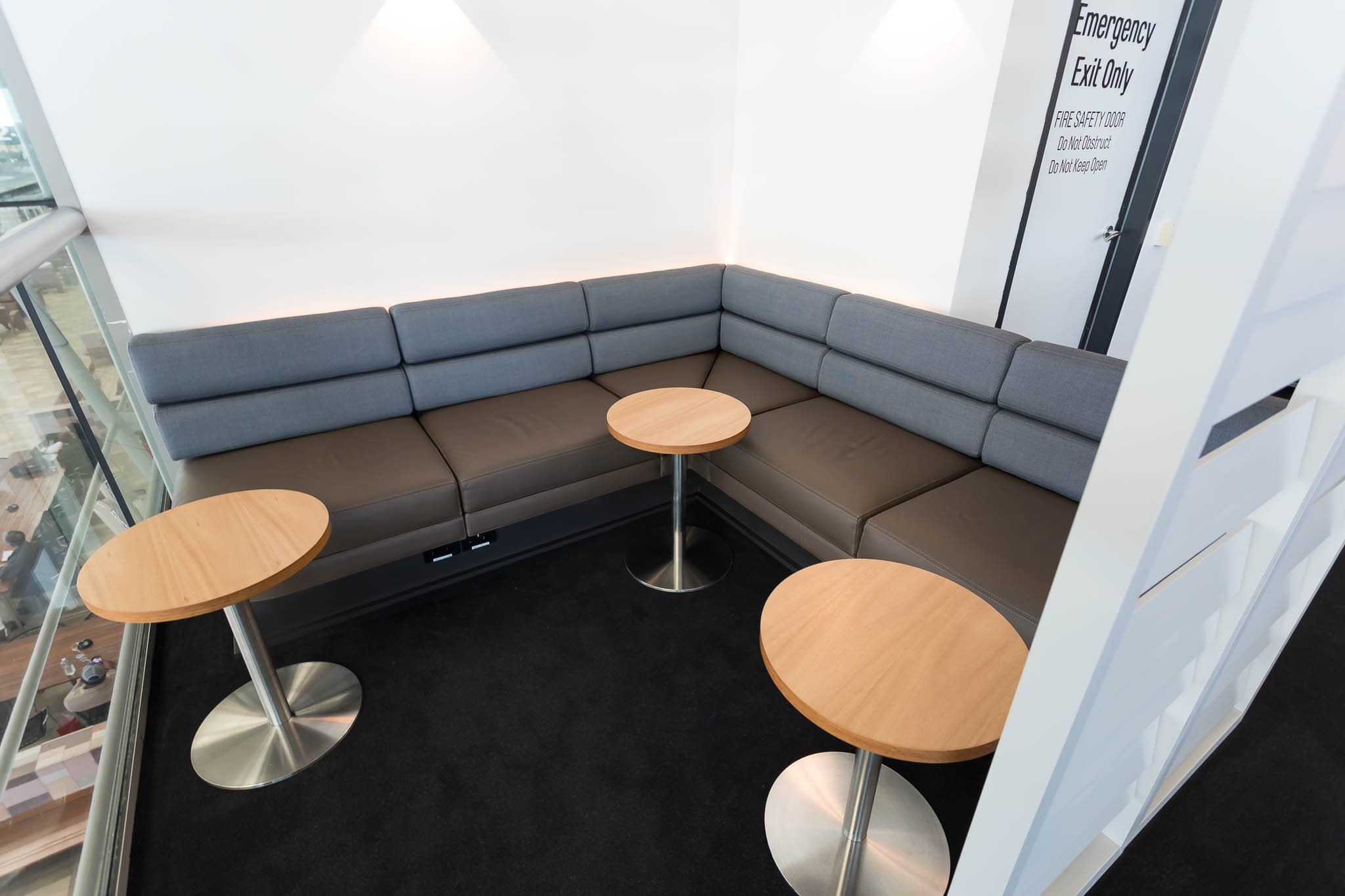 Qantas Brisbane International Lounge Seating Area