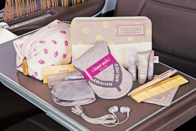 Hawaiian Airlines New Premium Amenity Kits © Hawaiian Airlines