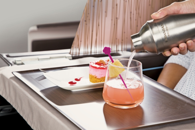 Hawaiian Airlines Enhanced Drink Service © Hawaiian Airlines