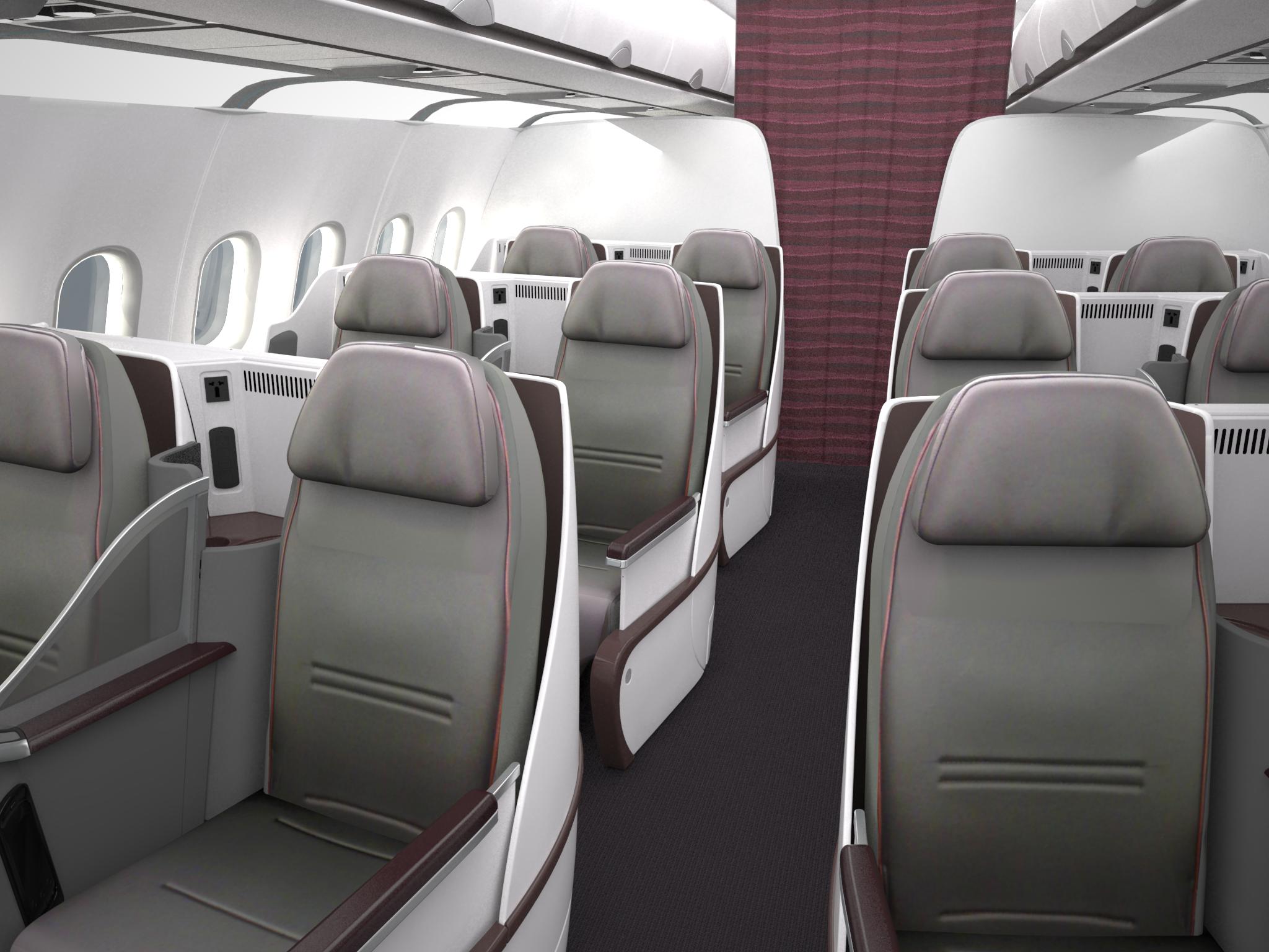 Qatar A320 Business Class Image: Qatar Airways
