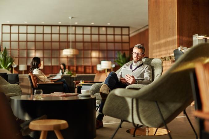 Cathy Pacific London Lounge
