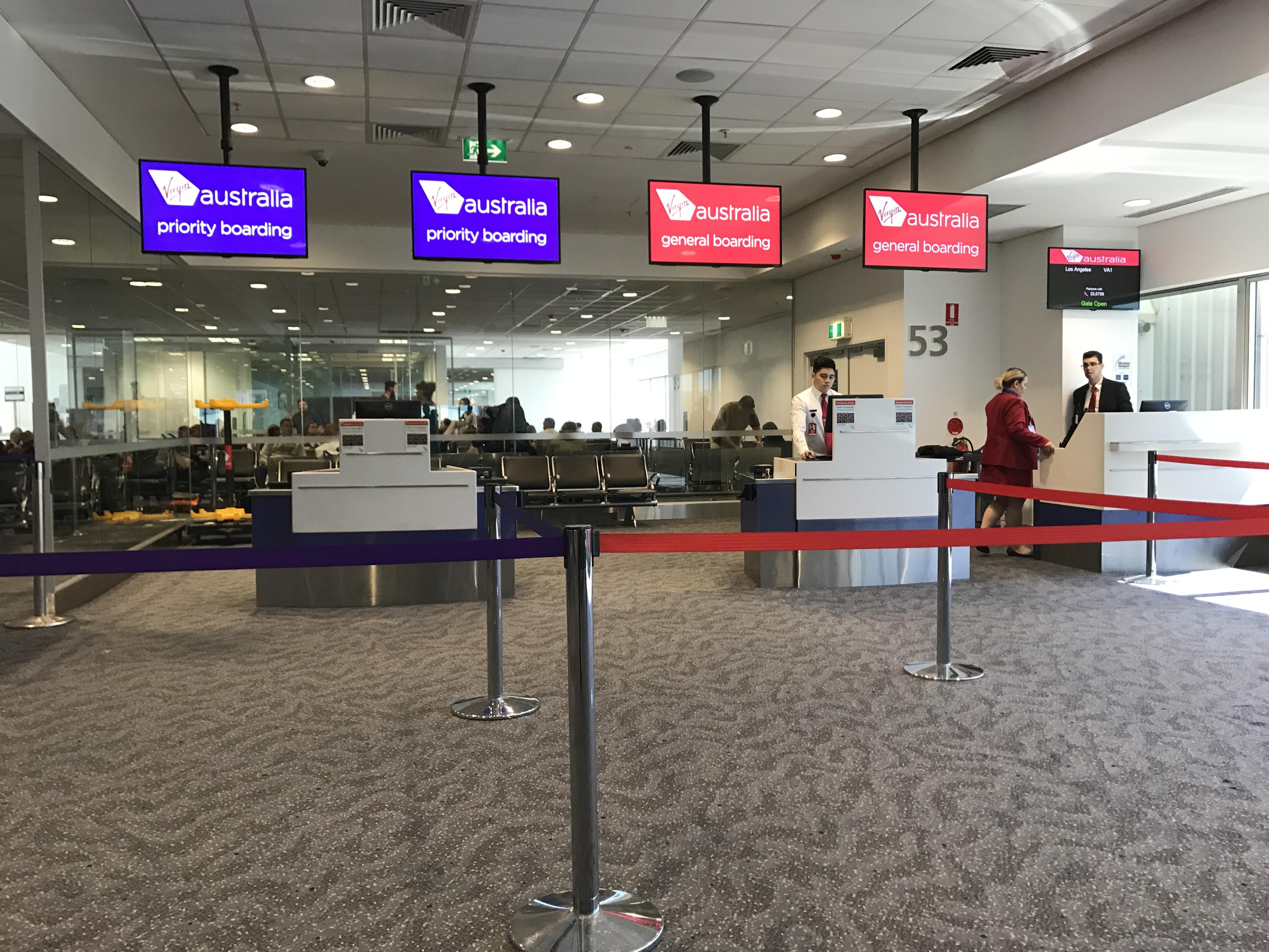 Virgin Australia Boarding Gate 53