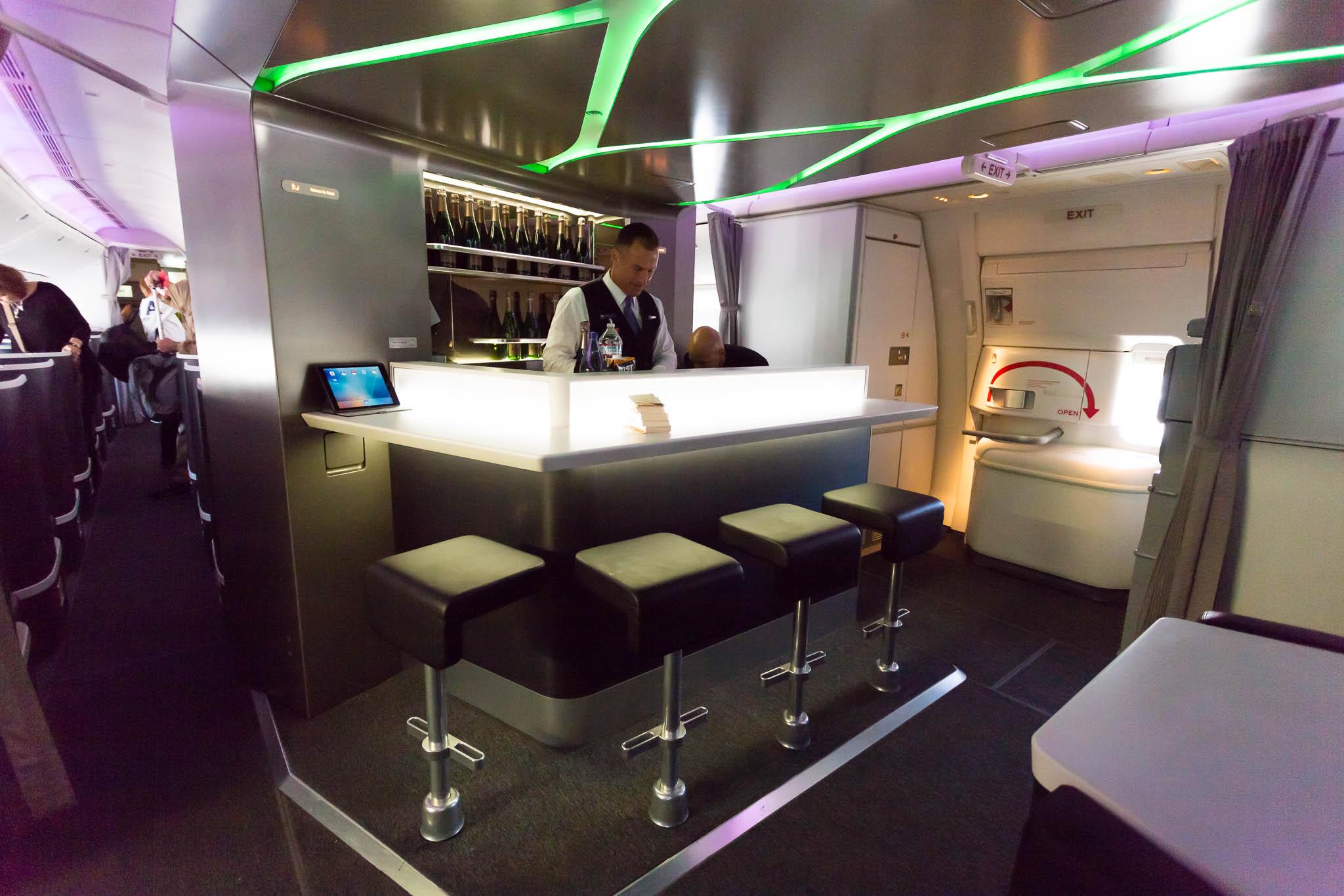 Virgin Australia 777 Business Class Bar