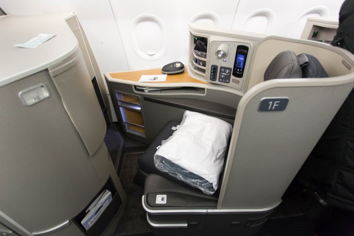 American Airlines Trans-Con First Seat 1F