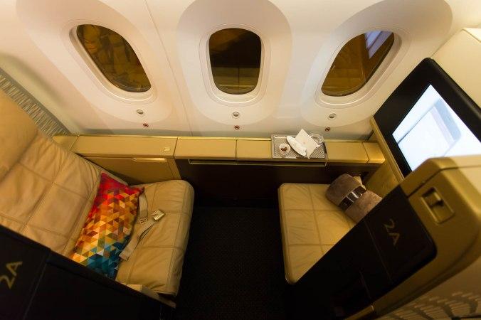 Etihad 787 First Class Seat 2A