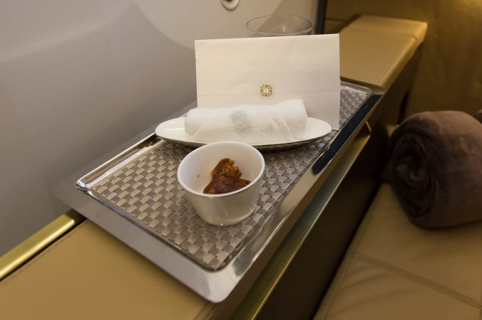 Etihad 787 First Class Welcome Tray