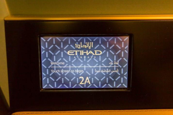 Etihad 787 First Class Seat Light Controls