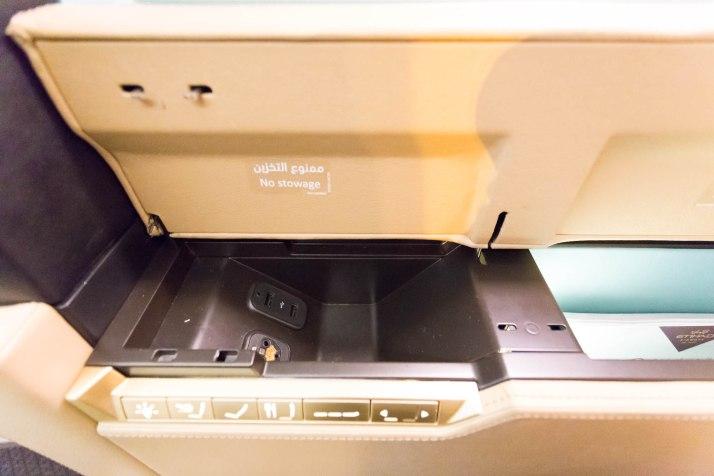 Etihad 787 First Class Seat USB And Storage