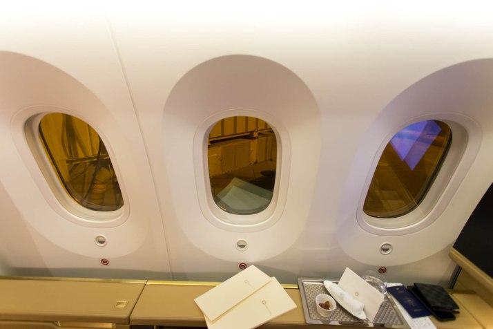 Etihad 787 First Class Seat 2A Windows
