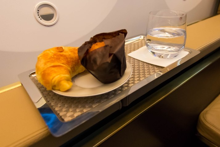 Etihad 787 First Class Pastries