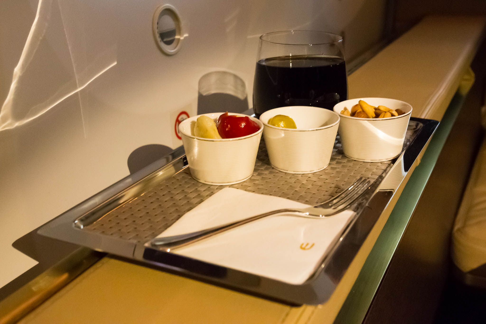 Etihad 787 First Class Appetiser Tray