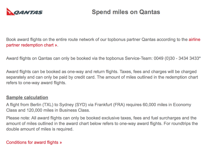 Redemptions On Qantas