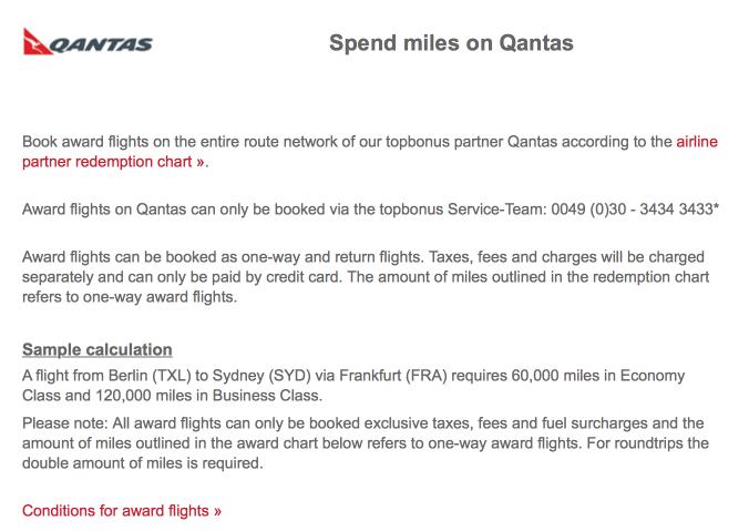 Redemptions On Qantas